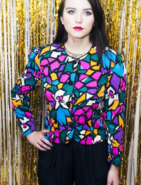 'Peggy Phillips' Multicoloured Cropped Jacket