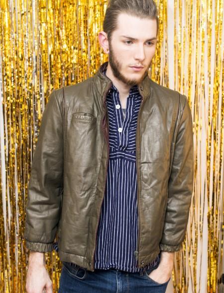 Dark Green Leather Jacket