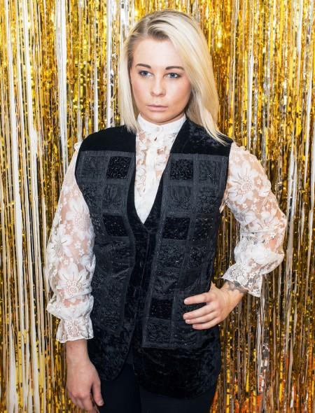 Black Embellished Waistcoat