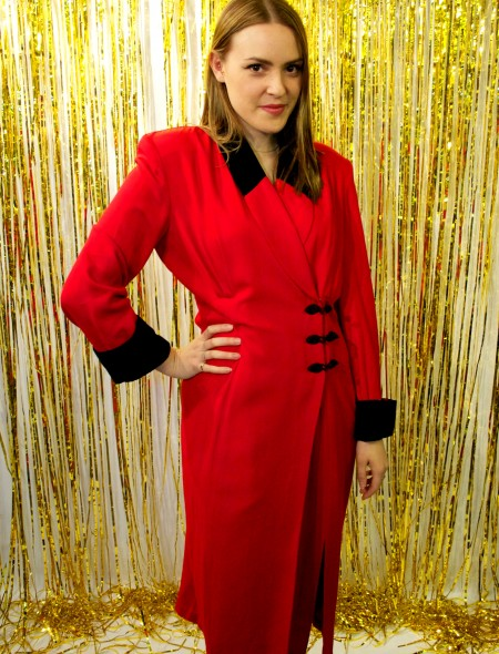 Joseph Ribkoff Red Dress Coat