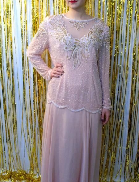 Pink & Gold Embellished Dress