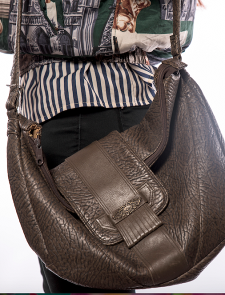 Detailed Brown Shoulder Bag
