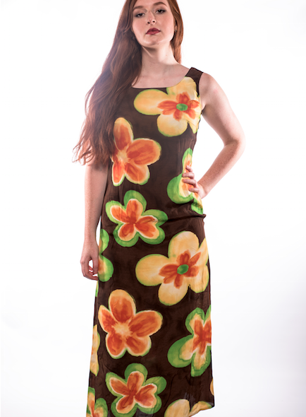 Full Length Flower Power Dress