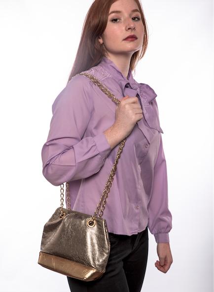 Metallic Gold Shoulder Bag