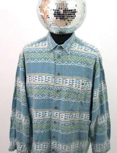 Beach Blue Patterned Shirt