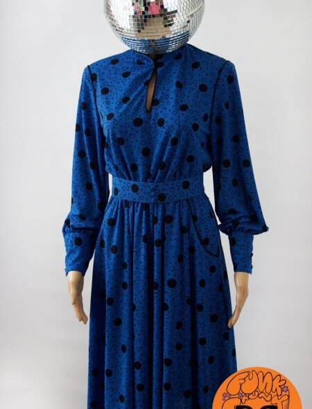 Blue Spotty Dress