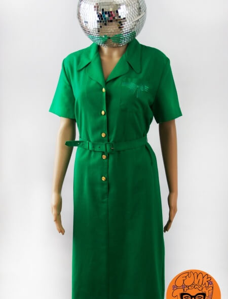 Green Bow Tea Dress