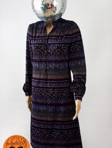 Purple Geometric Dress