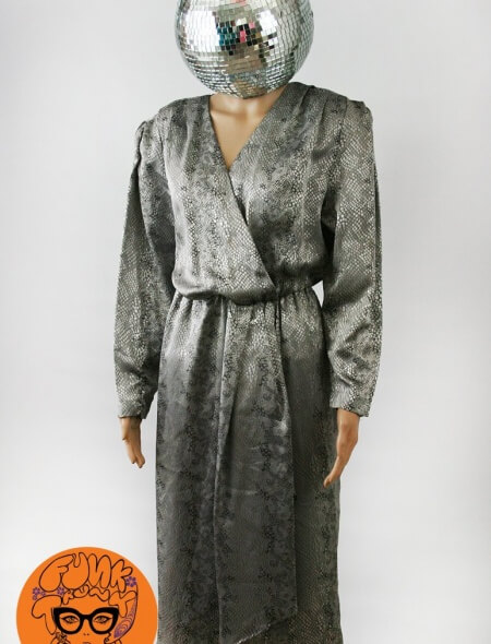 80's Silver Plus Size Diva Dress